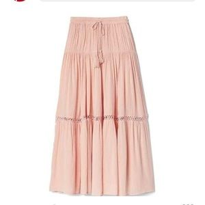 GAP Flowing Tiered Maxi Skirt